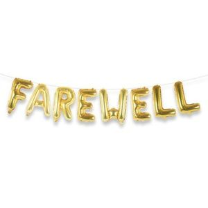 Farewell Gold Foil Balloons, 8 Pieces, 16 Inches🌸